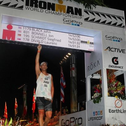Scott Black completing Kona World Championship Ironman
